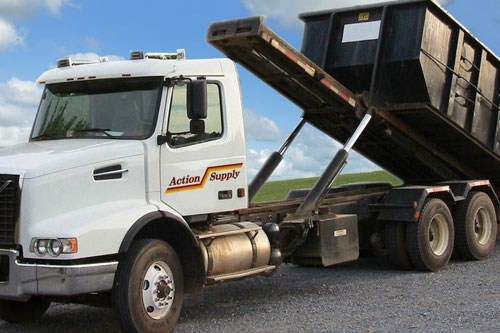 Action Supply offers rolloff dumpster services