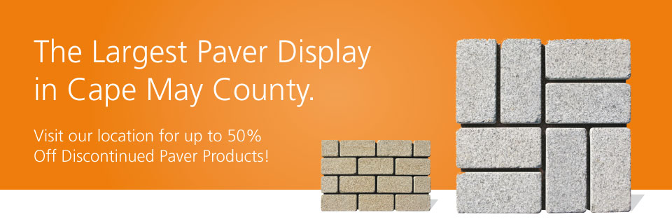 Action Supply has the largest paver display in Cape May county